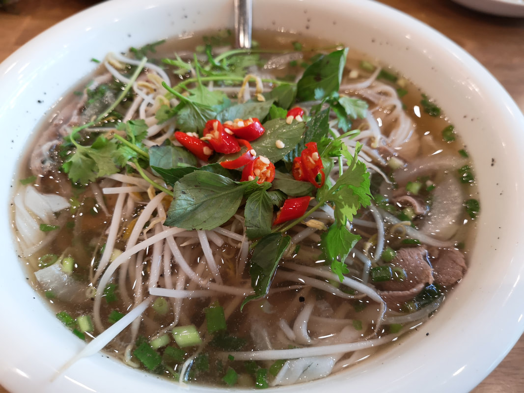 A hot bowl of beef Pho